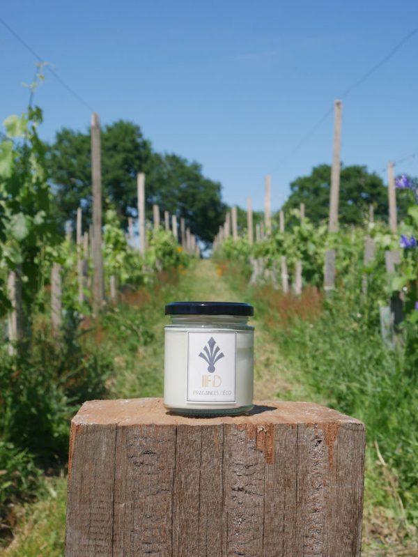 collection - autour du vin - bougie balade dans les vignes - mousse de chêne